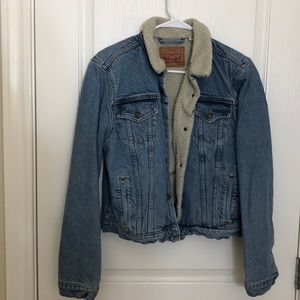Levi fur denim jacket
